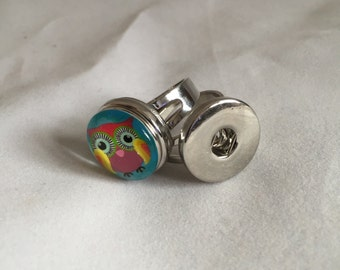 Snap Button Metal Ring- Interchangeable Jewelry-Snap Button-Ginger-Noosa Snaps