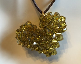Swarovski Green Heart Necklace