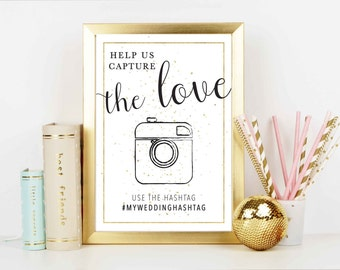 Capture The Love Wedding Sign