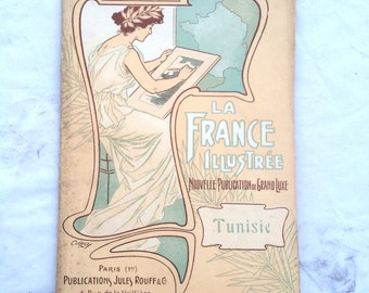 "The illustrated France of grand new publication luxury ""Tunisia"" / number 111"