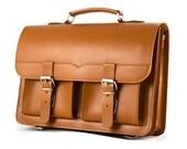 Leather Satchel Bag, Leather Tote Bag, Briefcase bag, Leather Messenger Bag, Vegetable Tanned Leather School bag, Backpack J190