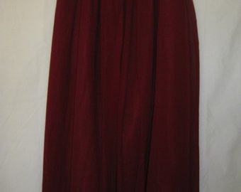 Plain Chiffon silk Skirt with satin lining