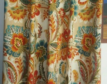 FREE SHIPPING Designer Richloom R Gallery Ayers Fiesta Drapes,
