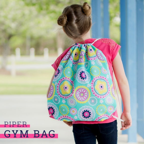 Pinkgymgirl Squishy Collection : Piper Collection-Gym bag-Dance Bag-Cinch by CustomOutfittersNB