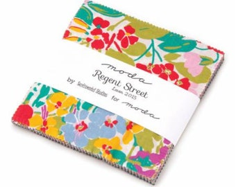 In Stock Now: Regent Street Lawns - Charm Pack - by Sentimental Studios for Moda
