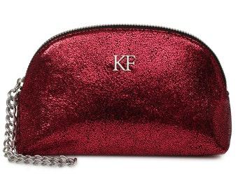 Leather Clutch, Leather Clutch Bag Purse, Burgundy Leather Clutch KF-698