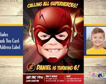 Flash Birthday Invitation. Turn your boy into The Flash for his unique Birthday Invitation. Flash Invitation. Flash Birthday Ideas