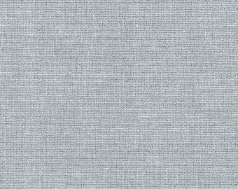 Yarn Dyed Linen in Fog with Metallic Silver by Robert Kaufman