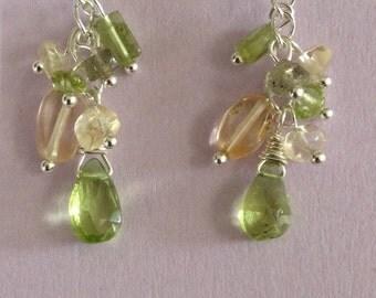 Peridot and citrine earrings (ESS-37)