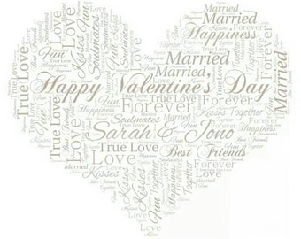 Valentine's Day Personalised gift frame