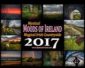 FREE SHIPPING WORLDWIDE! 2017 Collector's Calendar - Magical Irish Countryside, Irish Gifts, Ireland Scenery, Irish Landscapes, Ireland
