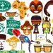 Props Africa Safari Amazon v1 wilderness mask Booth Party Birthday Clipart Bunting Cutting Files Digital svg eps png jpg Vinyl sale -189S