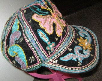 Absolutely Fabulous Vintage Embellished Cap - 1990's