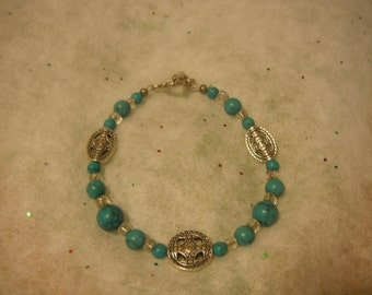 Turquoise and Celtic Bracelet