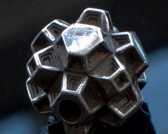 10g Laser Hallmark 925 Sterling Silver 'Nodule' Bead.
