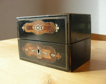 Napolean III inlayed Scent box