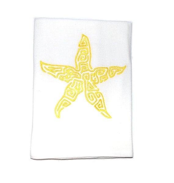 Nautical Guest Towels: Nautical Dish Towels Starfish Nautical Decor Nautical