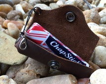 Chapstick Lip Balm Holder Leather Keychain Lanyard Edition...The Chap Caddy Daddy