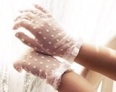 lace communion gloves with bow-lace gloves with dots