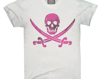 Pink Pirate Skull And Crossbones T-Shirt, Hoodie, Tank Top, Gifts