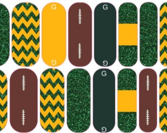 Greenbay Packers Inspired Jamberry Wraps