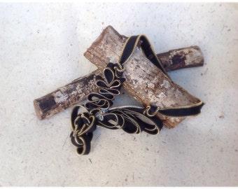 Zipper necklace sculpture