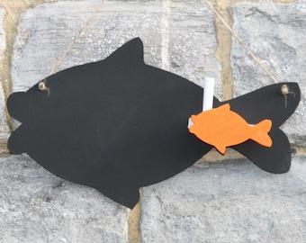 comic fish blackboard