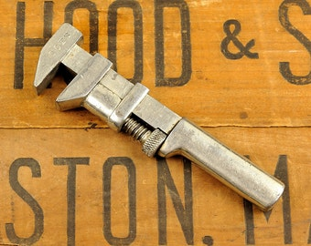Antique Vintage COES wrench, Monkey Wrench, Adjustable Wrench