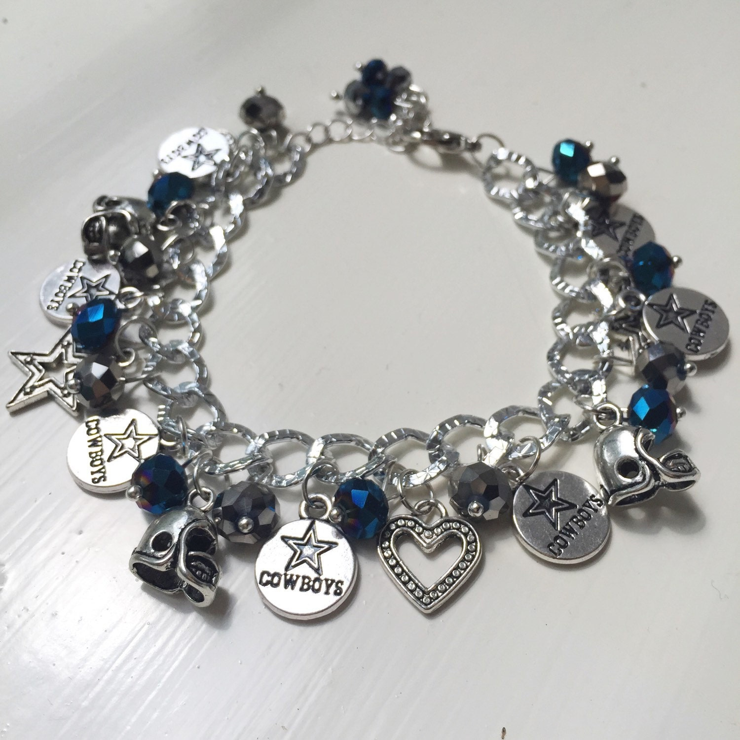 dallas cowboys charm bracelet dallas cowboys chunky charm bracelet 325