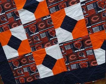 One handmade Chicago Bears Quilt