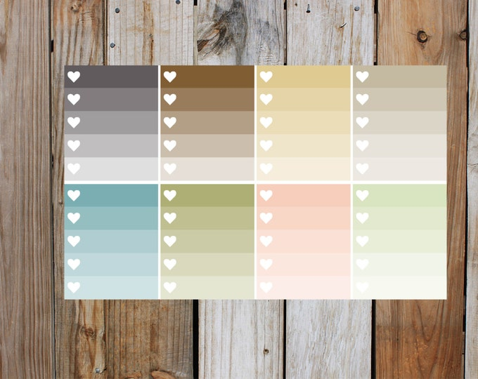 Heart Check Box in Glossy - Shades Of Nudes | for use with ERIN CONDREN LifePlanner