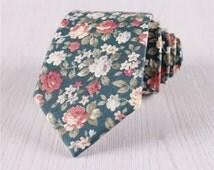 wedding neckties.vintage floral ties.floral printed neck ties for groomsmen.green floral ties.mens prom neck ties for ring bearer+nt229