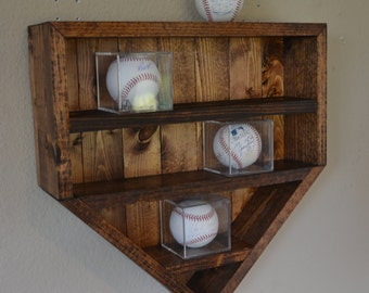 Handmade Wood Home Plate Display Shelf