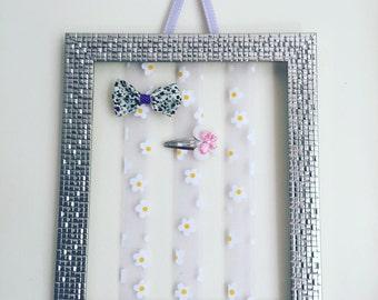 Hair bow holder, barrette holder, hair bow organiser, barrette organizer, hair clip holder, hair clip organiser