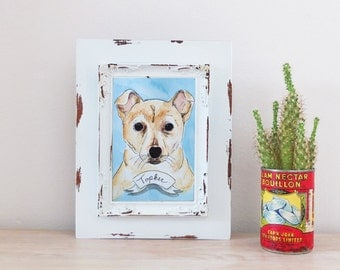 Memorial Commemoration CUSTOM Pet Portrait Illustration