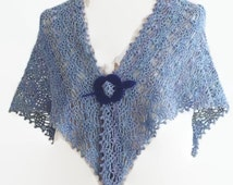 Pattern Crochet Lace shawl, Easy Crochet Shawl, Wrap Tutorial, Triangular shawl Pattern, Lace Scarf Pattern, PDF, Instant Download, Pt902
