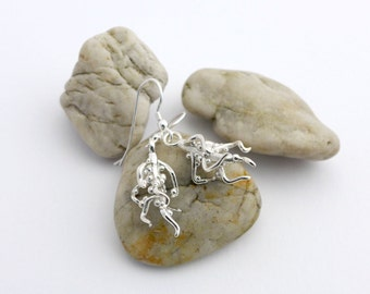 Nodulated Plant Root Earrings-Science Jewelry