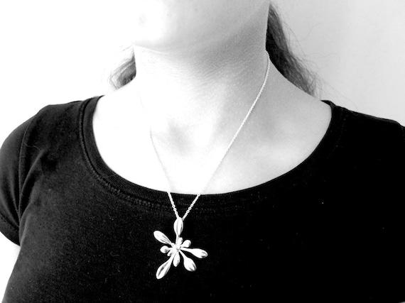 Arabidopsis Rosette - Plant Biology pendant - Science Jewelry in bronze, brass, silver & stainless steel