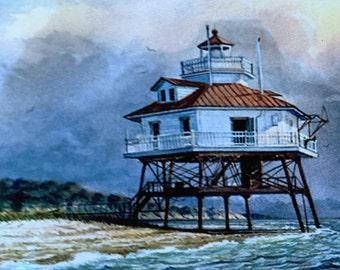 Drum Point Lighthouse Chesapeake Bay MD Harry Lamar Richardson 1943-