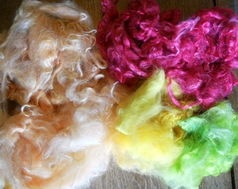 Canteloupe, strawberry, pineapple, kiwi 3 oz Suri Alpaca fiber
