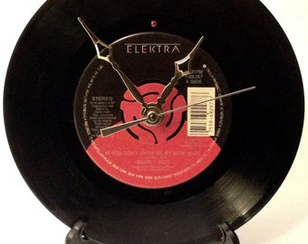 "Recycled Simply Red 7"" Record • If You Don't Know Me By Now • Record Clock"