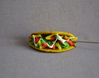 Realistic taco charm