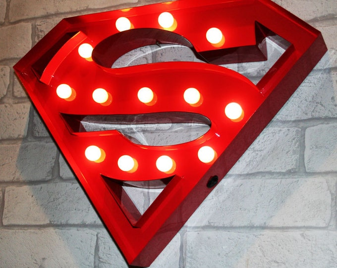 Featured listing image: 15 Inch LED Light - SUPERMAN