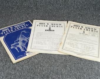 John W. Schaum Piano Course Red Book A&B And Blue Book B 3 Sheet Music Book Set