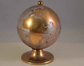 Vintage metal brass earth,miniature,lighter