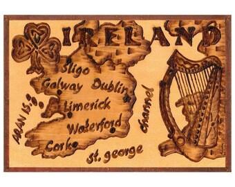 IRELAND - Handmade Leather Travel Photo Album - Natural