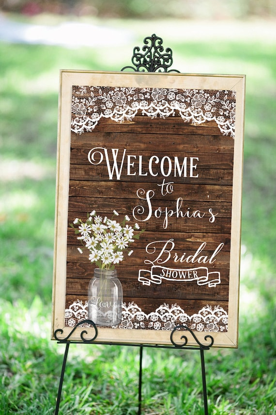 Wedding welcome sign bridal shower welcome sign bridal for Wedding shower signs