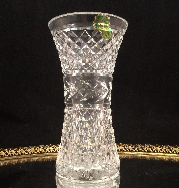 Vintage Waterford Crystal Vase Waterford Vase Glass Vase