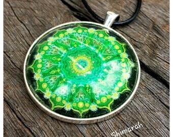 Mandala Heart Chakra pendant necklace
