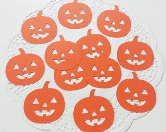 "Halloween Pumpkin Die Cuts Embellishments Confetti: Orange (Primary Cardstock)  2.27"" W x 2.4"" H"